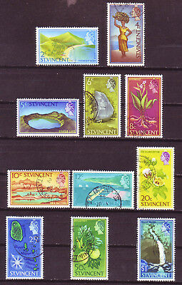 St. Vincent 1965; Short Definitive Set Of 11; Sc # 227, 229-238; Used