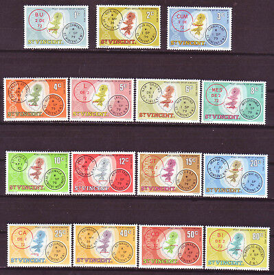 St. Vincent 1979; Cancellations And Location; Short Set Of 15; Sc # 548-562; Mh