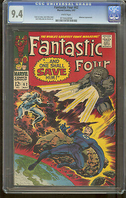 Fantastic Four 62 CGC 9.4 White Pages