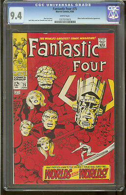 Fantastic Four 75 CGC 9.4 White Pages Silver Surfer and Galactus