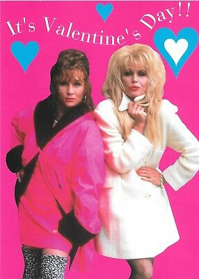 Ab Fab Absolutely Fabulous OOP UK Official Valentine Card Be My Sweetie Darling