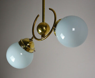 Bauhaus Art Deco Deckenlampe Messing