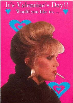 Ab Fab Absolutely Fabulous OOP UK Official Valentine Card Would you like to...
