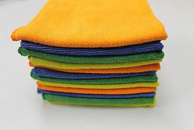 """Multipurpose Microfiber Cleaning Cloths 4pk 12""""x12"""" Quick Dry Lint Free Colored"""