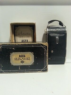 Agfa PB 20 Antar folding camera wwith box and instructions