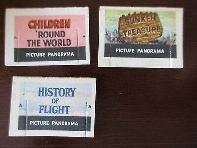 Cracker Jack paper prize lot of 3 Picture Panorama vintage 1960s