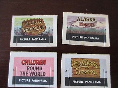 Cracker Jack paper prize lot of 4 Picture Panorama vintage 1960s