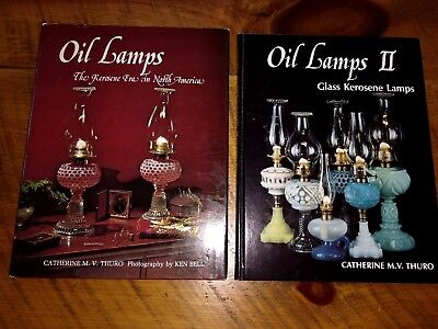 Oil Lamps Glass Kerosene Lamps Vol. I and II   Book by Catherine M. Thuro