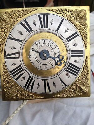 6 Inch Longcase/  Hooded Wall Clock Movement And Dial With Alarm