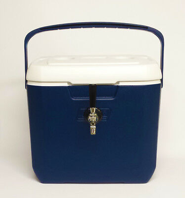 Jockey Box Draft Beer Cooler 1 Faucet 50' Stainless Steel Coil 28qt Blue