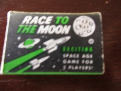 Cracker Jack  Race to the Moon game Made in Hong Kong vintage 1960s