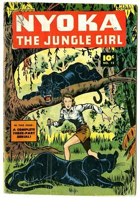 Nyoka the Jungle Girl #12 G/VG 3.0  Fawcett  1947  No Reserve