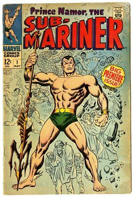 Sub-Mariner #1 VG- 3.5  Origin Retold  Marvel  1968  No Reserve