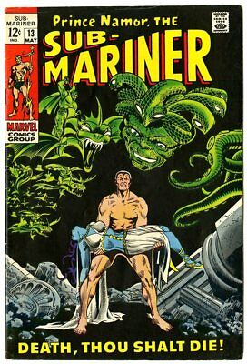 Sub-Mariner #13 VF+ 8.5 off-white pages  Marvel  1969  No Reserve
