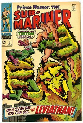 Sub-Mariner #3 VF/NM 9.0 ow/white pages  Leviathan!  Marvel  1968  No Reserve