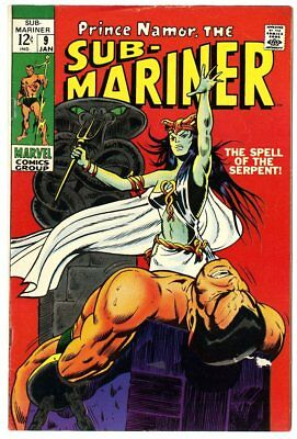 Sub-Mariner #9 FN/VF 7.0 white pages  Marvel  1969  No Reserve