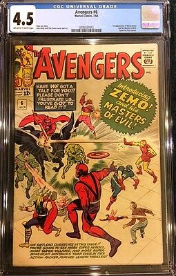 AVENGERS #6 CGC 4.5 VG+ 1964 1st Appearance of Baron Zemo and Masters of Evil