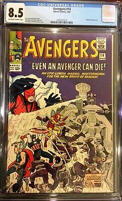 AVENGERS #14 CGC 8.5 VF+ 1965 WATCHER Appearance High Grade Silver Age NICE!