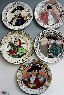 Royal Doulton Professional Series Set 5 Plates Mayor Doctor Jester Admiral Hunt