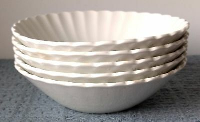 """J. & G. Meakin ~ England ~ """"Classic White"""" ~ 6½"""" COUPE CEREAL BOWLS ~ Set of 5"""