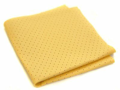 5 x Large PERFORATED SYNTHETIC Chamois Cloth Car Drying Shammy Leather Absorbent
