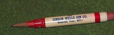 Vintage Brazil Gin and Gibson Wells Gin Co., Humboldt, TX Bullet Pencil