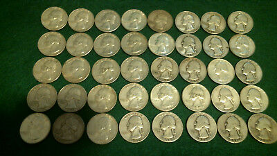 40 - 1964 and Earlier US silver quarters