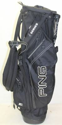 PING Series-4 Lightweight Black Golf Stand Dual Strap Bag Black w/Umbrella slot