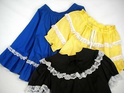 """Malco Modes Square Dancing Skirt Size S, 20"""" Long Made in USA"""