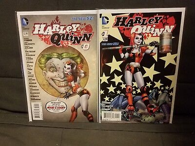 Harley Quinn #0 & #1 2014 New 52 Dc Amanda Conner And Jimmy Palmiotti 2 Book Lot