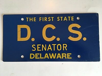 1964 Delaware Senate License Plate Senator Legislator Legislature Political RARE