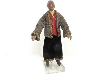 Italian 18c Neapolitan Carved Wood & Polychrome Figure Well Dressed Gentleman 2
