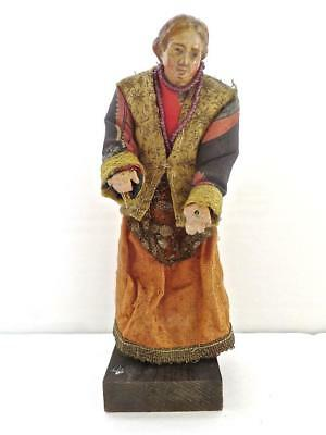 Italian 18c Neapolitan Carved Wood & Polychrome Figure a Well Dressed Gentleman