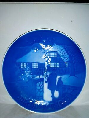 """@ B&g Denmark """"country Christmas"""" Jule-Aften-1973 Plate 7 In. Limited Edition"""