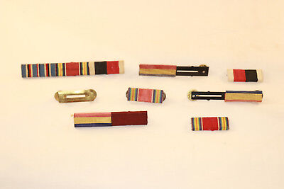 Lot Of  10 WW2 Ribbon Bars Medal Military with Pins