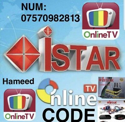 iStar code korea online tv 12 months guarantee
