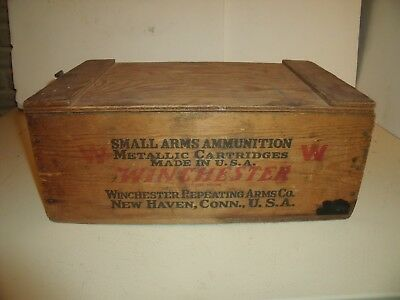 Antique Winchester Super Speed Wooden Ammo Crate Vintage Wood 22 Shell Box 10000