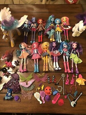 Huge Lot Of My Little Pony Equestria Girls Dolls, Pony's, And Accessories!!!!