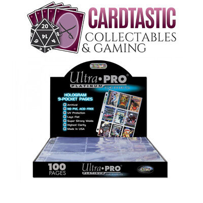 Ultra Pro 9 Pocket Pages Platinum Series (100 Pages) Box