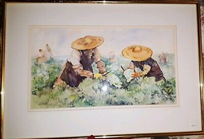 ORIGINAL WATERCOLOR PAINTING, Framed & Double Matted, SIGNED, Janet W. Price