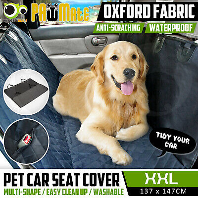 Pet Car Back Seat Cover Dog Cat Waterproof Mat Hammock Protector Clean BLACK
