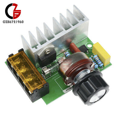 4000W 0-220V AC SCR Electric Voltage Regulator Motor Speed Controller