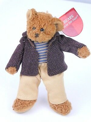 """New Forester 5.5 Inches Tall Boy Girl Russ Berrie """"bears From The Past"""" A27"""
