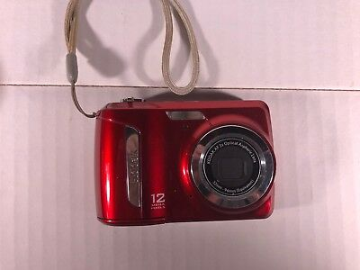 NICE Kodak EasyShare C143 RED 12MP Zoom Tested & Working FREE SHIPPING