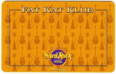 THE HARD ROCK casino*FAT KAT KLUB *HTF *Las Vegas hotel slot player's key card*