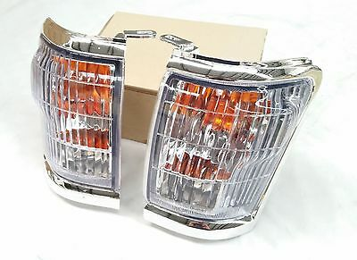 Toyota Hilux Ln167 98-04 Chrome Front Corner Indicator Lights Lamps Pair 509