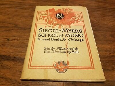 1916 Siegel-Myers School of Music Chicago Catalog 80 pages William Foden