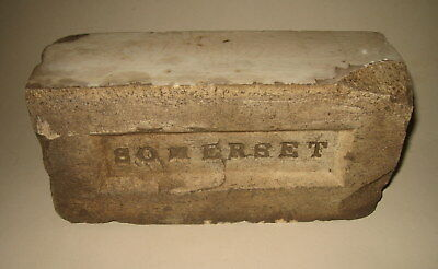 Old Vintage Antique Somerset Glazed Clay Brick Architectural Feature - from MA?