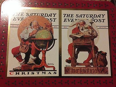 Norman Rockwell 1996 Nostalgic Saturday Evening Post Christmas Playing Cards NEW