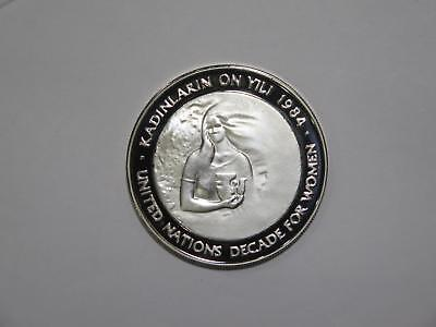 Turkey 1984 5000 Lira Decade For Women Proof Silver World Coin Collection Lot